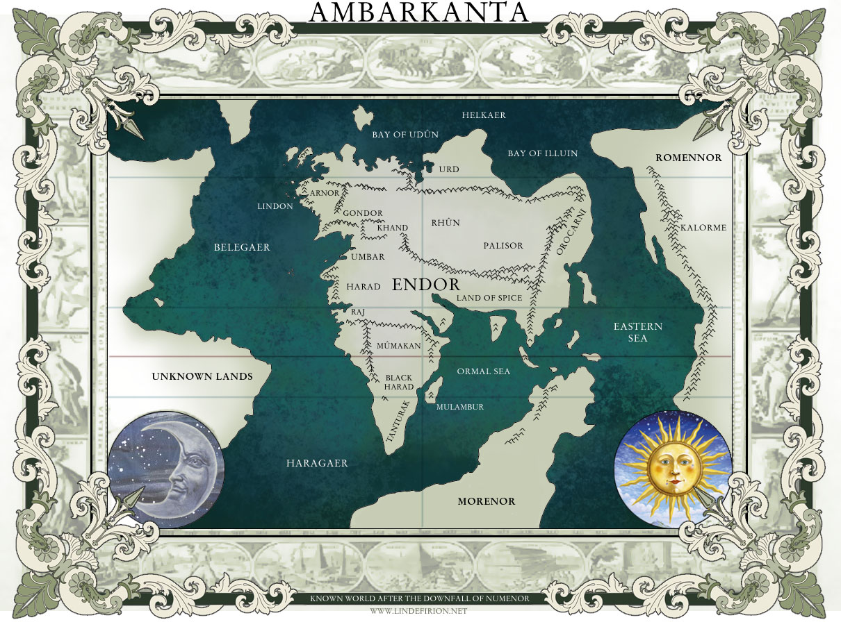 Lindfirion collection of maps by sampsa rydman second age arda ambarkanta world map in the beginning of the third age gumiabroncs Gallery