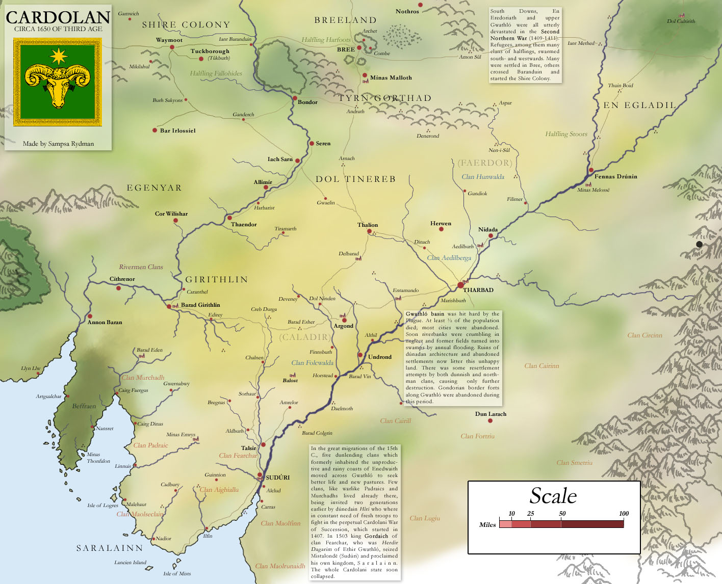 Lind firion Collection of Maps by Sampsa Rydman – Full Size Map of Middle Earth