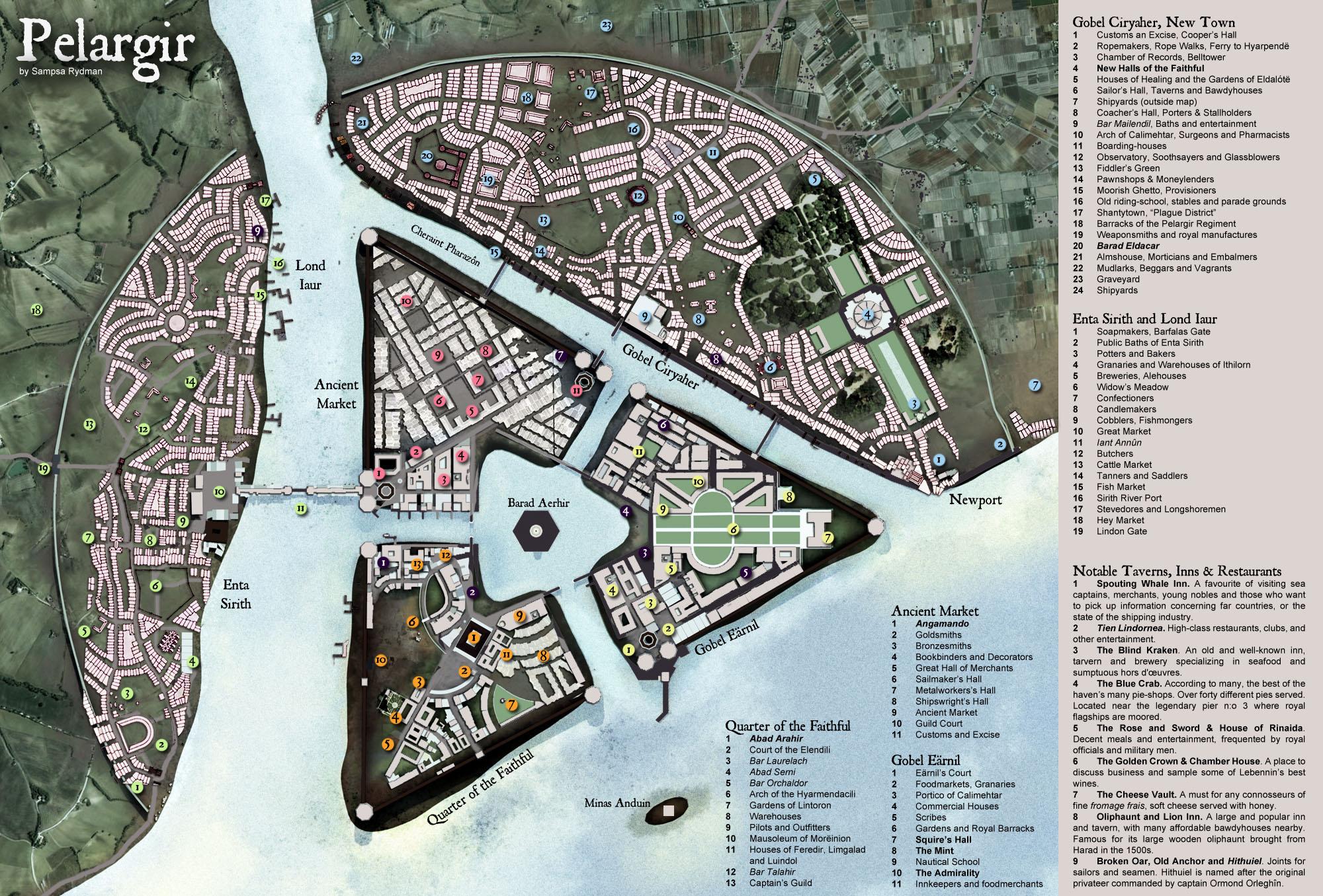 Lindfirion Collection of Maps by Sampsa Rydman